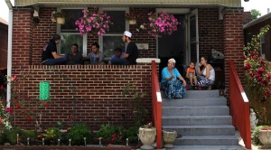 'Little Bosnia' - porch time at Tahirovic Family home