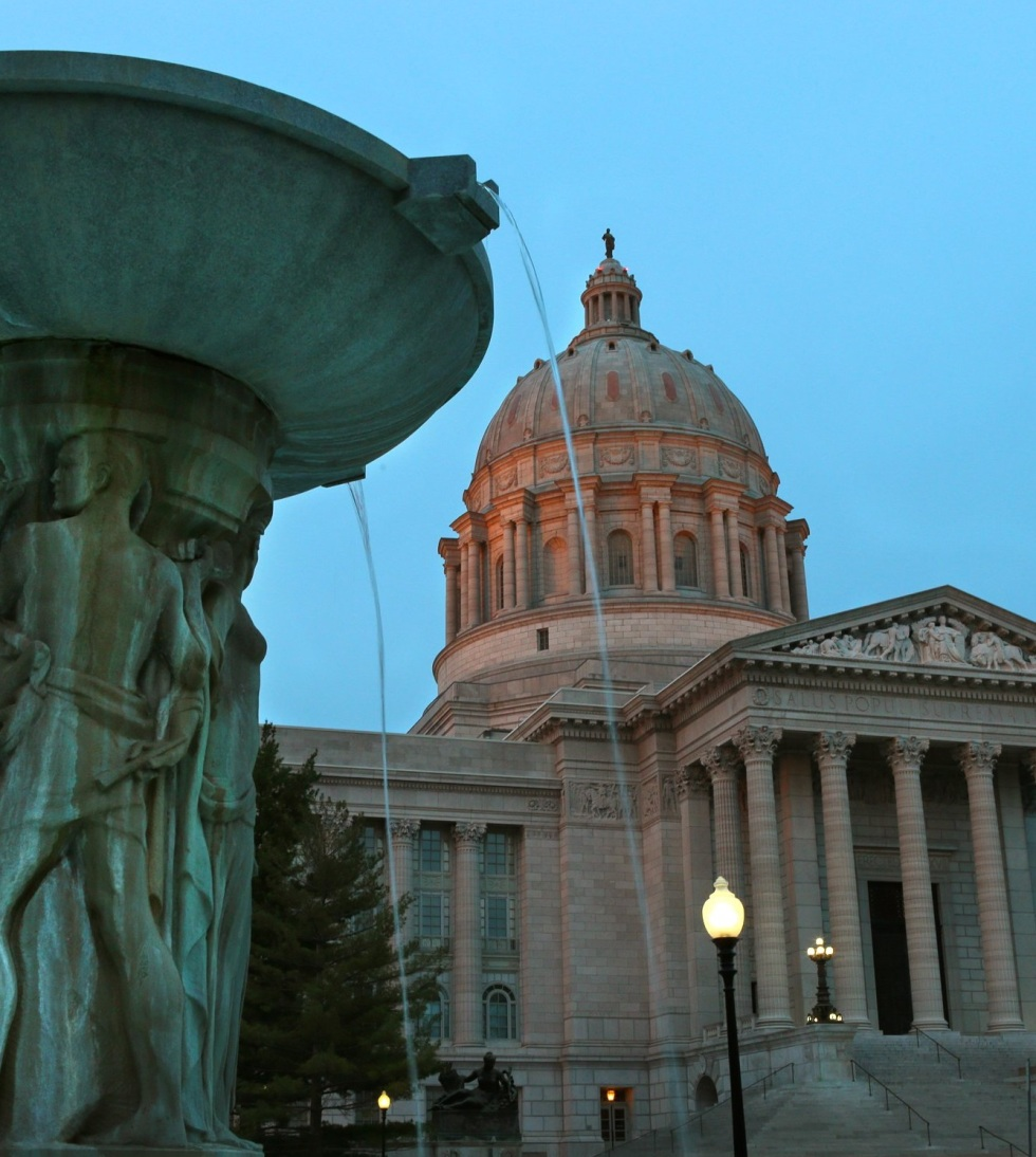 The Missouri Capitol stands at dusk on the final day of the 97th Legislature at the Missouri State Capitol in Jefferson City on Friday, May 16, 2014. Photo by Robert Cohen, rcohen@post-dispatch.com